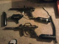 I have 2 paintball guns 3 empty co2 cartridges 2