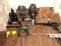 I have three paintball guns, 3 hoppers, 6 co2 tanks,