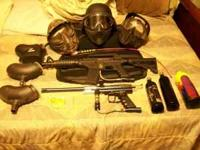 Paintball Equipment $300.00 FIRM 1 helmet 2 masks