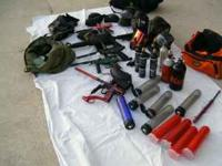 i have for sell alot paintball stuff they r 5 markers a
