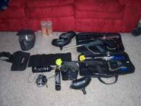 I HAVE FOUR PAINTBALL GUNS. I HAVE A EREX, A PIRANHA