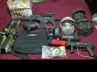 I have two paintball markers for sale with lots of gear