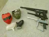Paintball guns, masks, an hoppers Call or text Archie