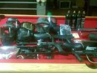 2 tippman 98 custom guns(one w/ 20 in barrel and custom
