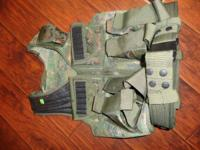 Paintball vest in Like new condition, digital woodland