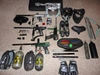 I am selling all of my paintball gear. Too busy to play