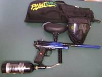 PAINTBALL GUN, MASK,CANISTER, CARRY CASE, EMAIL OR CALL