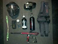 Ion epiphany paintball gun, ninja nitrogen tank