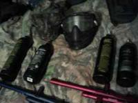 Two paintball guns one spyder sonix the other spyder