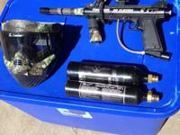 I am selling my paintball pen, mask and 2 CO2 tanks.