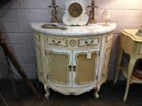"Painted French Commode One Drawer 3' Wide x 18"" Deep x"
