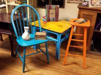 Handpainted upcycled furniture and house decoration for