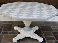 * hand-painted in soft neutral antique-white and grey,
