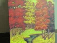 Colorful Tree Painting 3ft x 2ft, beautiful painting