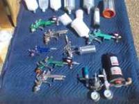 8 spray guns,*SATA* Well kept and pure,Measuring