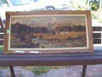 Paintings , lg $20 Med Size, $!5; (2)occasional tables,