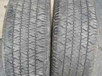2 Nice 215 70 15 tires, Location: Downtown Dayton