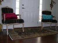 Beautiful pair of vintage French chairs updated with a