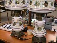 Pair Double Globe Table Lamps -- Sold Seperate  Get