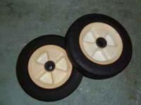 For sale used pair original Lawnboy front 6 inch wheels