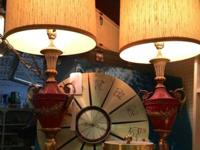 Pair of 1960's Hollywood Regency Glam Lamps. $295