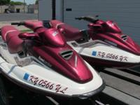 pair of 1998 & 1999 Sea-Doo GTX Limited jet skis with