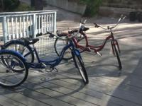 "For sale: Pair of 24"" Schwinn Meridian Tricycles. These"