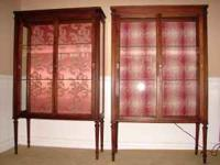 UP FOR SALE WE HAVE THIS LOVELY PAIR OF CURIO CABINETS