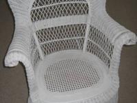 This is a rare PAIR of wicker rockers with beautiful