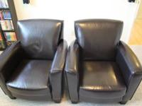 "Black(""espresso""), bonded leather chairs: $100 each or"