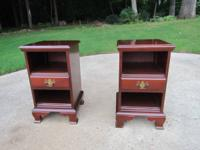 Pair of matching cherry night stands by Sumter Cabinet