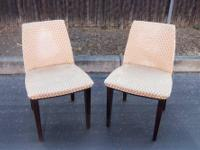 This is a nice pair of chairs that were being used with