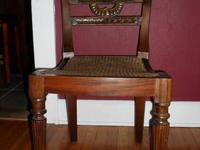 These unusual two side chairs are extremely well made,
