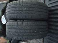 PAIR OF GOODYEAR TIRES 235 55 17 WITH 75% TREAD $80 FOR