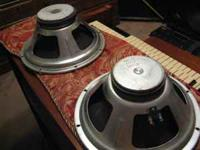Large Ceramic Magnet on Each. 8 Ohms Each. Watt