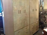 Pair of Henredon Scene Two Armoire Cabinets Constructed
