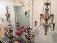 "Pair of Italian Beaded Sconces 29"" High x 17"" Wide $395"