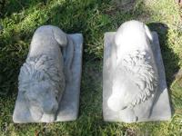 WOW! A PAIR OF LION STATUARYS FOR YOUR GRAND ENTRANCE