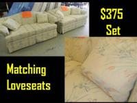Featured Item Pair of Matching Love Seats Very Good