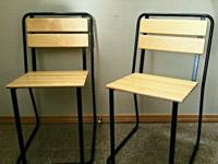 Type:OfficeType:Chairs This is a set of two modern