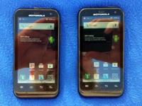 Pair of Motorola Defy XT557 Dual Band Smartphones -