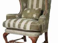 Pair of NEW Wing back chairs by GuildMaster in the