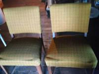 Pair of older plaid chairs.  Could be reupholstered $40
