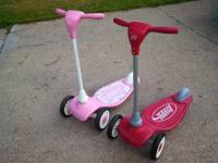 For Sale:  Pair of Radio Flyer My 1st toodler scooters.