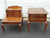 COLONIAL CHERRY WOOD END TABLES Approximate Sizes: