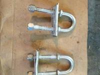 Pair of used Stainless steel stern eyes came off of a