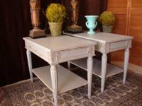 Pair of Top Quality End Tables By Auffray & Company
