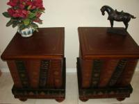 Pair of Unusual Matching End Tables in the Form of