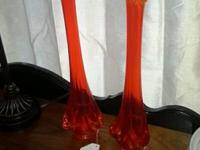 Selling a pair of Viking Glass Vases. Each one is 15""
