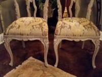 These lovely old chairs have had a full makeover! Taken
